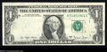 Error Notes:Third Printing on Reverse, Fr. 1910-A $1 1977-A Federal Reserve Note. About ...