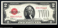 Error Notes:Skewed Reverse Printing, Fr. 1502 $2 1928A Legal Tender Note. About Uncirculated. ...