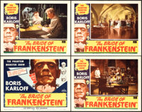 """The Bride of Frankenstein (Realart, R-1953). Very Fine-. Lobby Card Set of 4 (11"""" X 14"""").... (Total: 4 Items)"""