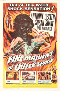 """Fire Maidens of Outer Space & Other Lot (Topaz, 1956). Folded, Overall: VF+. One Sheets (4) (27"""" X 41""""), L..."""