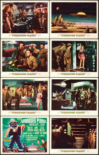 """Forbidden Planet (MGM, 1956). Very Fine+. Lobby Card Set of 8 (11"""" X 14"""").... (Total: 8 Items)"""