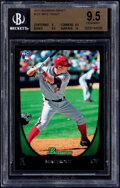 Baseball Cards:Singles (1970-Now), 2011 Bowman Draft Mike Trout #101 BGS Gem Mint 9.5. ...