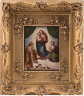 Furniture, A Large KPM Porcelain Plaque Depicting the Holy Family...