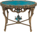 Furniture, A Louis XV-Style Gilt Bronze Mounted and Carved Wood Cente...