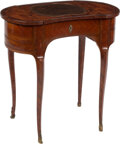 Furniture, A French Inlaid Metamorphic Poudreuse, early 19th century. 28-1/2 x 28 x 16 inches (72.4 x 71.1 x 40.6 cm). ....