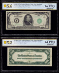 Small Size:Federal Reserve Notes, Fr. 2211-F $1,000 1934 Federal Reserve Note. Specimen Set. PCGS Banknote Gem Unc 66 PPQ; Choice Unc 64 PPQ.. ... (Total: 2 notes)