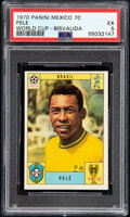 Olympic Cards:General, 1970 Panini World Cup Mexico 70 Pele (Bisvalida) PSA EX 5....