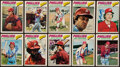 Autographs:Sports Cards, 1977 O-Pee-Chee Philadelphia Phillies Signed Card Lot of 10. ...