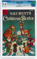 Silver Age (1956-1969):Humor, Four Color #959 Walt Scott's Christmas Stories - File Copy (Dell, 1958) CGC NM 9.4 Off-white pages....