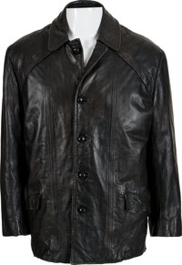 Sylvester Stallone Screen Worn Black Leather Jacket from Rocky (United Artists, 1976).</