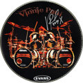 Music Memorabilia:Autographs and Signed Items, Vinnie Paul Signed and Inscribed Hellyeah Evans Drum Head
