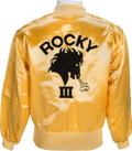 Movie/TV Memorabilia:Costumes, Sylvester Stallone Owned and Worn Rocky III