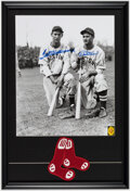 Autographs:Photos, Ted Williams & Bobby Doerr Dual-Signed Oversized Photograph Display. ...