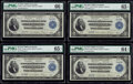 Cut Sheet of Four Fr. 757 $2 1918 Federal Reserve Bank Notes PMG Graded. ... (Total: 4 notes)