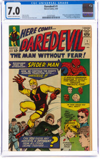 Daredevil #1 (Marvel, 1964) CGC FN/VF 7.0 Cream to off-white pages