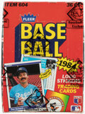 Baseball Cards:Unopened Packs/Display Boxes, 1984 Fleer Baseball Wax Box With 36 Unopened Packs - Don Mattingly Rookie Year. ...