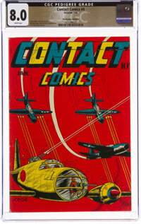 Contact Comics #4 The Promise Collection Pedigree (Aviation Press, 1945) CGC VF 8.0 White pages