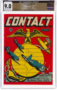 Contact Comics #9 The Promise Collection Pedigree (Aviation Press, 1945) CGC VF/NM 9.0 Off-white to white pages