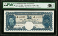 World Currency, Australia Commonwealth of Australia 5 Pounds ND (1952) Pick 27d R48 PMG Gem Uncirculated 66 EPQ.. ...