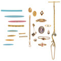 Estate Jewelry:Lots, Antique Multi-Stone, Seed Pearl, Gold Jewelry. ... (Total: 22 Items)