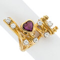 Estate Jewelry:Rings, Peter Lindeman Ruby, Diamond, Gold Ring Stones...