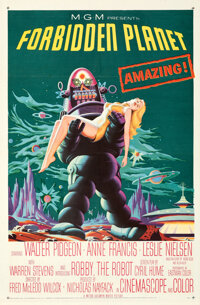 """Forbidden Planet (MGM, 1956). Folded, Very Fine+. One Sheet (27"""" X 41"""")"""