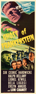Movie Posters:Horror, The Ghost of Frankenstein (Universal, 1942). Rolled, Fine+...