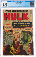 Silver Age (1956-1969):Superhero, The Incredible Hulk #2 (Marvel, 1962) CGC GD/VG 3.0 Off-white to white pages....