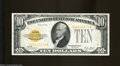 Small Size:Gold Certificates, Fr. 2400 $10 1928 Gold Certificate. Extremely Fine.