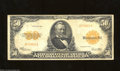 Large Size:Gold Certificates, Fr. 1200a Mule $50 1922 Gold Certificate Fine-Very Fine. ...