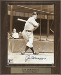 Autographs:Photos, Joe DiMaggio Signed Photograph. The splendid Joe D is seen here inhis classic Yankee pinstripes in this attractive sepia-t...