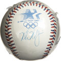 Autographs:Baseballs, Mark McGwire Single Signed Baseball from the 1984 Olympics. 1984saw the reintroduction of baseball to the Summer Olympics ...