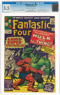 Fantastic Four #25 (Marvel, 1964) CGC FN- 5.5 Off-white to white pages
