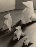 Photographs, Alexis Delcroix (Dutch, 19th/20th Century). Famille de Cocottes (Origami Family of Hen and Chicks), 1934...