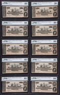 T67 $20 1864 PF-39 Cr. 539 Twenty-two Consecutive Examples PMG Graded