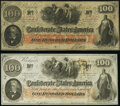 Confederate Notes:1862 Issues, T41 $100 1862 PF-15 Cr. 316 Choice About Uncirculated;. T41 $100 1862 PF-26 Cr. UNL Very Fine-Extremely Fine.. ... (Total: 2 notes)
