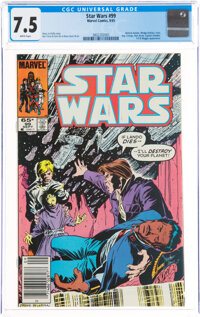 Star Wars #99 (Marvel, 1985) CGC VF- 7.5 White pages