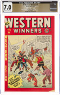 Golden Age (1938-1955):Western, All Western Winners #4 The Promise Collection Pedigree (Marvel, 1949) CGC FN/VF 7.0 Off-white to white pages....
