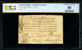 North Carolina August 21, 1775 Hillsborough $4 PCGS Banknote Extremely Fine 40 Details
