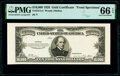 Small Size:Gold Certificates, Fr. 2411 $10,000 1928 Gold Certificate. Face Proof. PMG Gem Uncirculated 66 EPQ.. ...