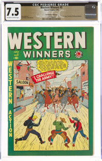 Western Winners #5 The Promise Collection Pedigree (Marvel, 1949) CGC VF- 7.5 Off-white to white pages