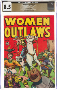 Women Outlaws #3 The Promise Collection Pedigree (Fox Features Syndicate, 1948) CGC VF+ 8.5 Off-white to white pages