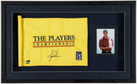 2001 Tiger Woods Signed Players Championship Hole #7 Used Pin Flag Display