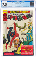 Silver Age (1956-1969):Superhero, The Amazing Spider-Man Annual #1 (Marvel, 1964) CGC VF- 7.5 Off-white to white pages....