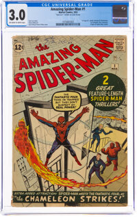 The Amazing Spider-Man #1 Signed by Stan Lee (Marvel, 1963) CGC GD/VG 3.0 Off-white to white pages