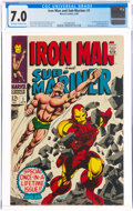 Silver Age (1956-1969):Superhero, Iron Man and Sub-Mariner #1 (Marvel, 1968) CGC FN/VF 7.0 Off-white to white pages....