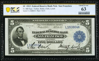 Fr. 808 $5 1915 Federal Reserve Bank Note PCGS Choice New 63
