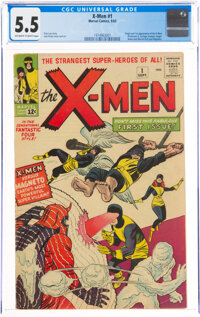 X-Men #1 (Marvel, 1963) CGC FN- 5.5 Off-white to white pages
