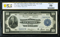 Fr. 810 $10 1918 Federal Reserve Bank Note PCGS Banknote About Unc 50