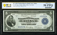 Fr. 807 $5 1918 Federal Reserve Bank Note PCGS Banknote About Unc 50 PPQ
